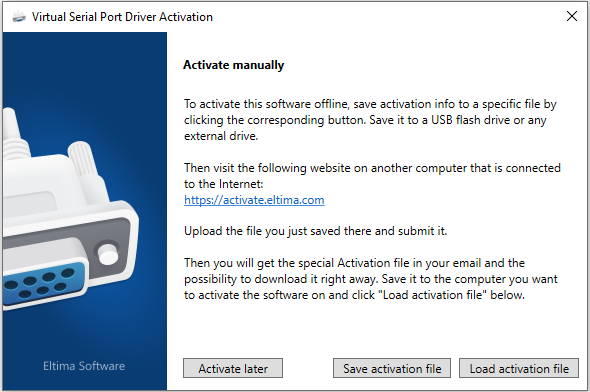 Save activation info