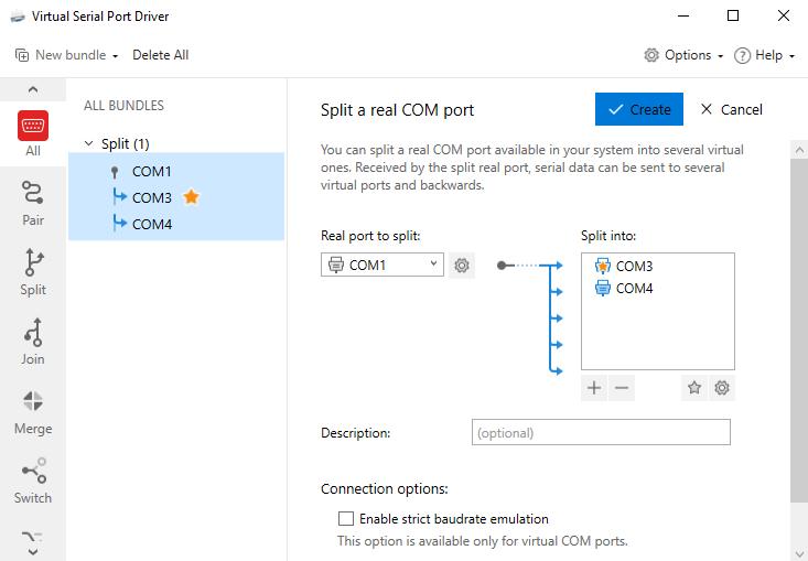 Splitting a real COM port