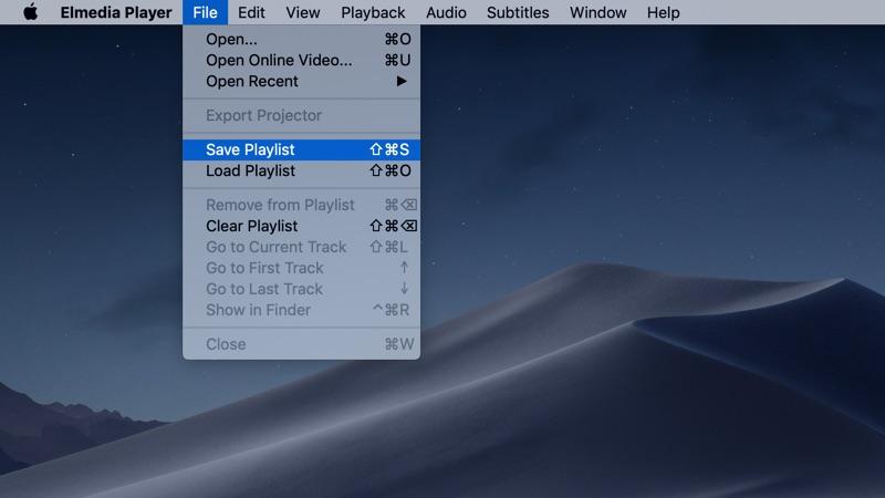 Manage playlists in Elmedia Player