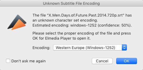 Loading subtitles in Elmedia Player