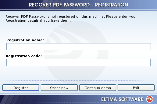 recover pdf password by eltima software