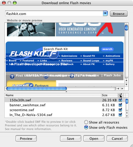 SWF & FLV Player for Mac OS – Browsing on-line Flash animation Flvplayer Swf on