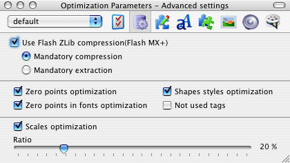 Flash Optimizer for Mac Advanced settings